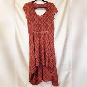 Free People Rad for Plaid High Low Dress